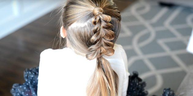 причёски для девочек на новый год: завершите косу