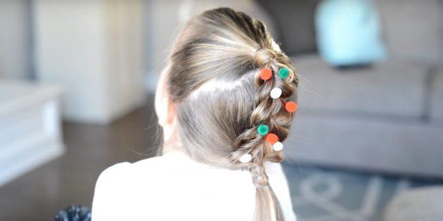 причёски для девочек на новый год: вставьте украшения