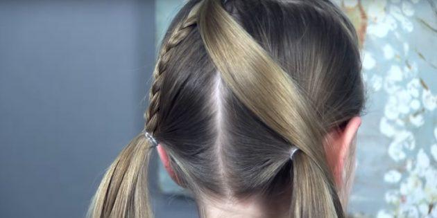 причёски для девочек на новый год: заплетите косу и зафиксируйте