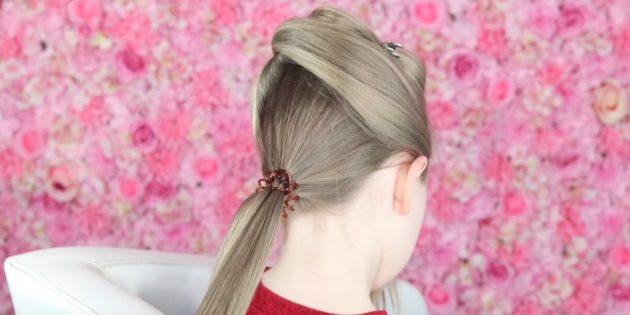 причёски для девочек на новый год: разделите волосы