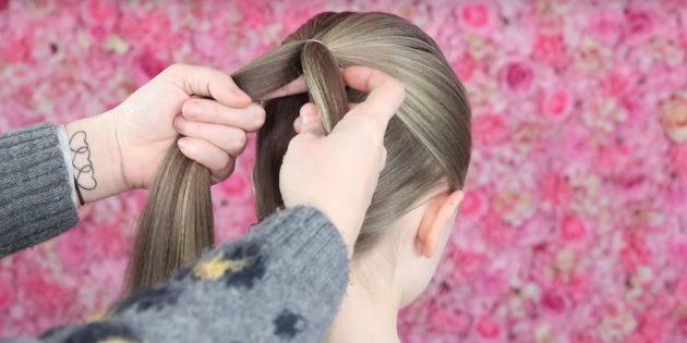 причёски для девочек на новый год: сделайте ещё один хвост