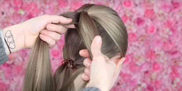 причёски для девочек на новый год: продолжите плетение