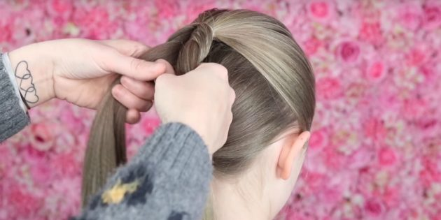 Продолжайте формировать косу