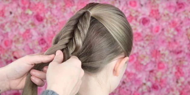 причёски для девочек на новый год: вытягивайте прядки по мере плетения