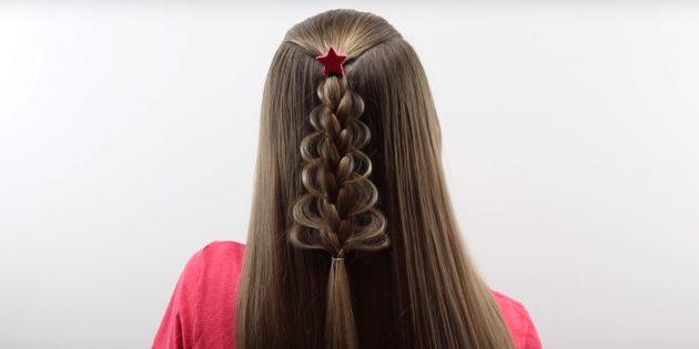 «Ёлочка» из одной косы