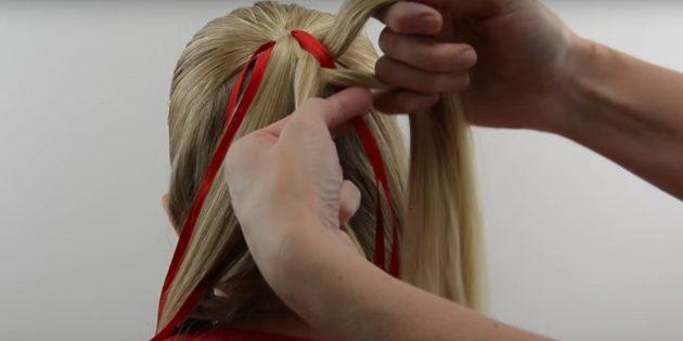 новогодние причёски для девочек: начните плести косу