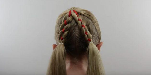 новогодние причёски для девочек: повторите с другой стороны