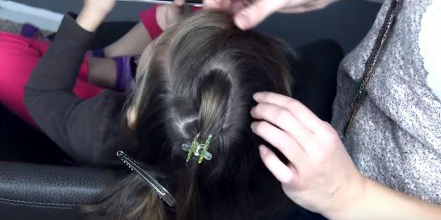 новогодние причёски для девочек: разделите волосы