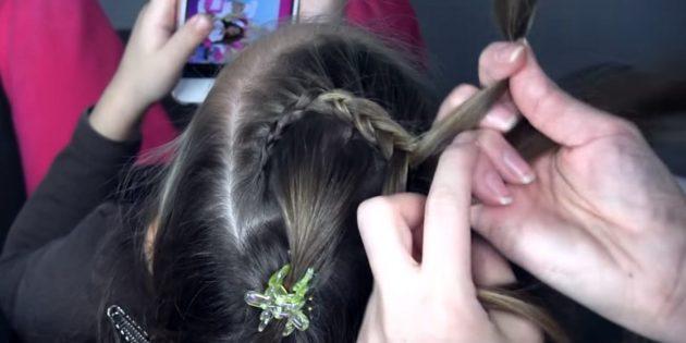 новогодние причёски для девочек: заплетите колосок