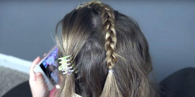 новогодние причёски для девочек: завершите косу