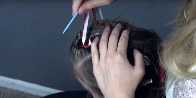 новогодние причёски для девочек: закрепите ленты