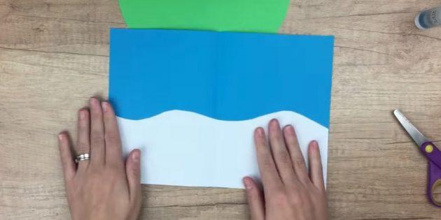 новогодние открытки своими руками: приклейте белую деталь