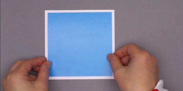 как сделать новогоднюю открытку: склейте квадраты