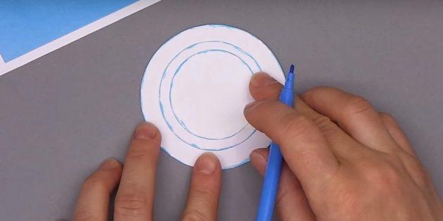 как сделать новогоднюю открытку: подкрасьте детали