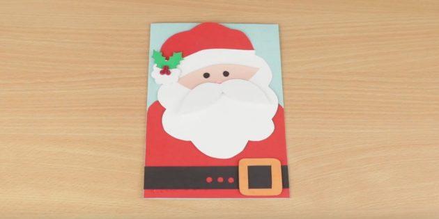 Новогодняя открытка с Дедом Морозом
