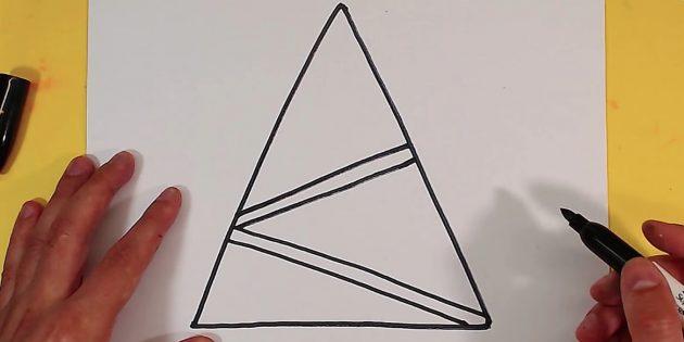 как нарисовать ёлку: добавьте вторую гирлянду