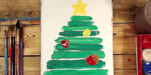 Как нарисовать елку ребенку 3 года thumbnail