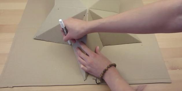 Как сделать светильник: наметьте вторую звезду