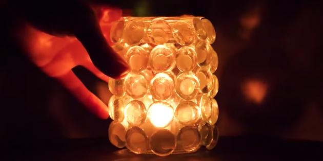 Как сделать светильник из банки