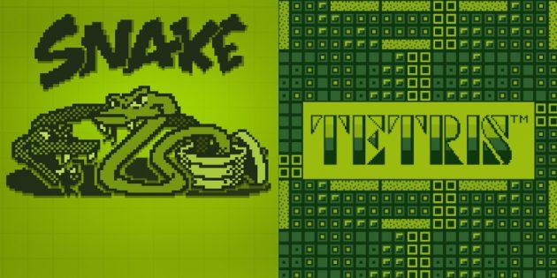 Змейка и Тетрис
