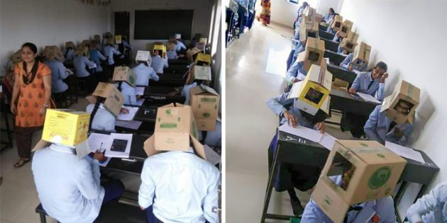 коробка на экзамене