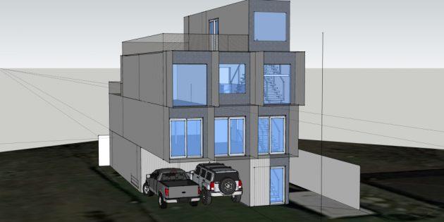 проект дома из контейнеров