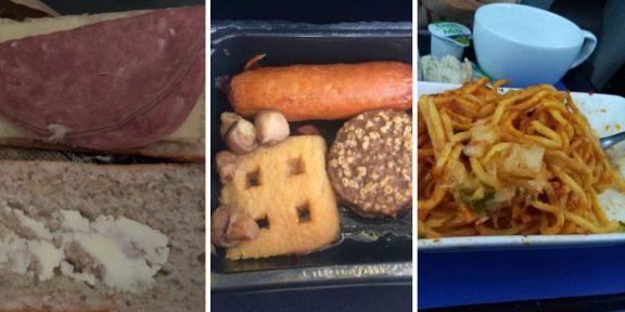 Рыба или курица? 11 примеров отвратительной еды из самолётов