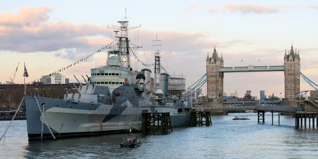 Достопримечательности Лондона: крейсер «Белфаст»