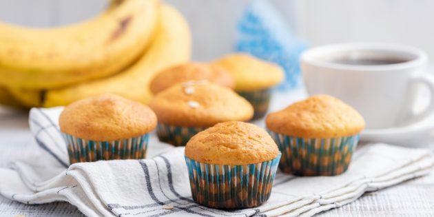Банановые кексы на сметане: простой рецепт