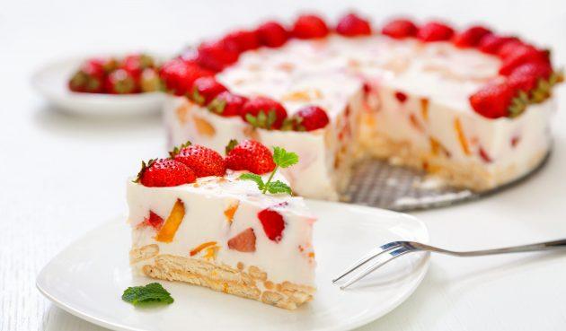 Торт «Битое стекло» без выпечки
