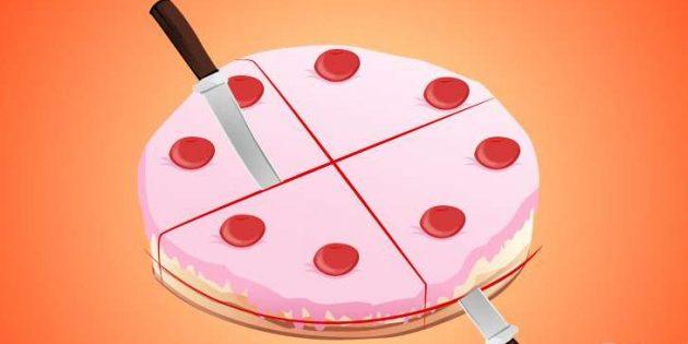 Логические задачи: как поделить торт
