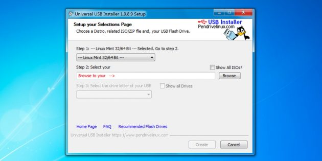 Программа для создания загрузочной флешки Universal USB Installer
