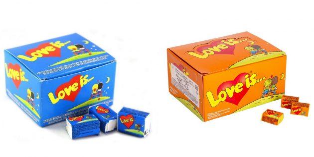 Что подарить любимому на Новый год: жвачка Love is...