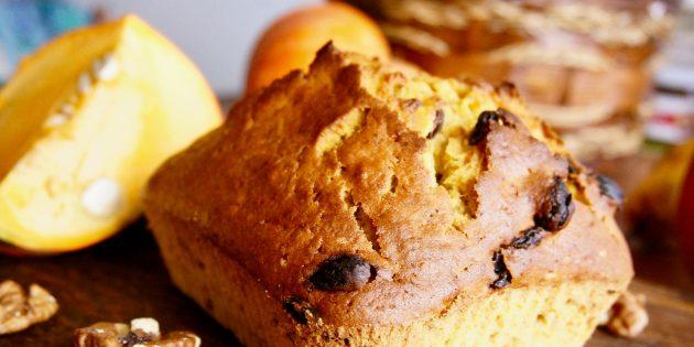 Тыквенный хлеб с орехами и пряностями