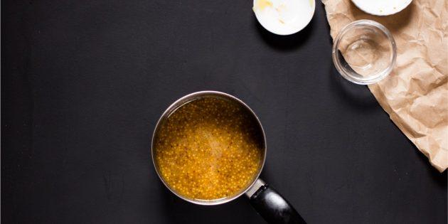 Горчично-медовая глазурь для мяса