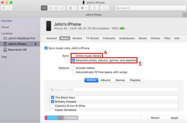 Как скачать музыку на iPhone: отметьте, какую музыку надо загрузить