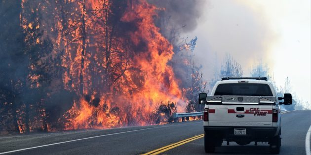 Важнейшие события в мире: лесные пожары в Калифорнии