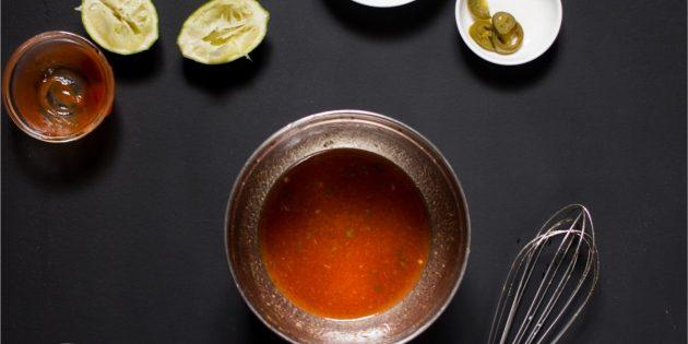 Глазурь для мяса с мёдом, кетчупом и кумином