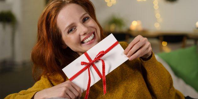 Что подарить на Новый год: подарочная карта