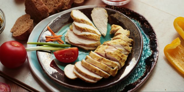 Куриное филе в кефире в духовке