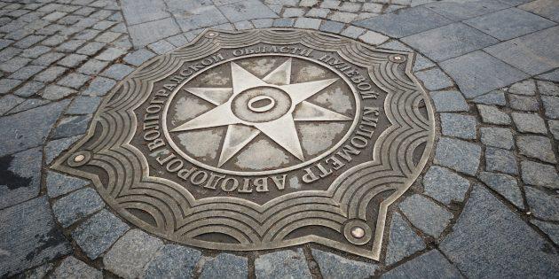 Объекты, объединяющие города России: Нулевой километр