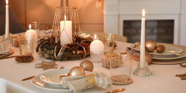 Новый год: сервировка стола