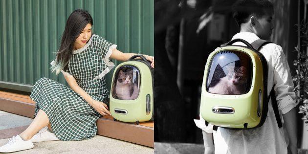 Xiaomi выпустила рюкзак-переноску для животных с ретро-дизайном. Его уже можно купить на AliExpress