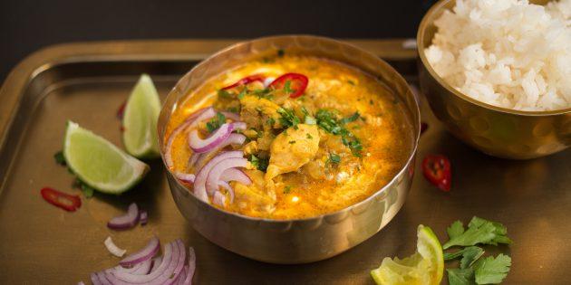 Масляная курица по-индийски