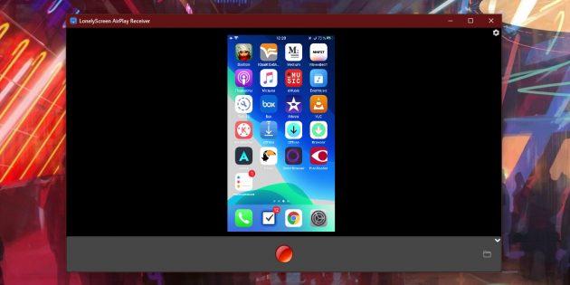 Запись видео с экрана с помощью LonelyScreen