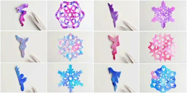 как вырезать снежинки из бумаги своими руками