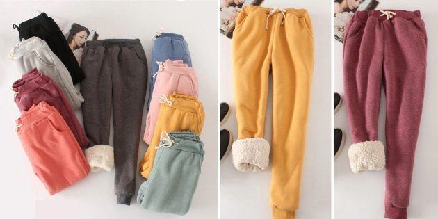 Зимние брюки-карго