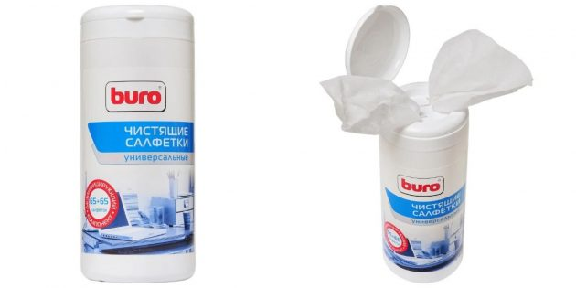 Салфетки для чистки гаджетов Buro
