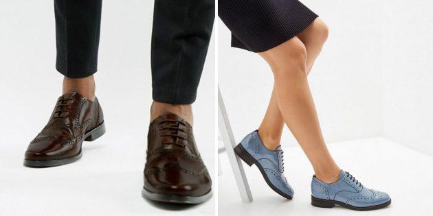 Классическая обувь: броги