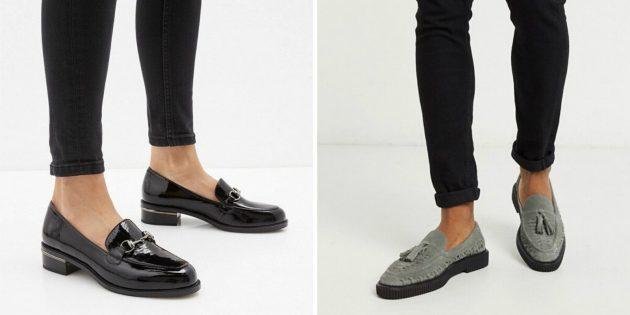 Классическая обувь: лоферы